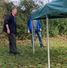 Setting up the gazebos for the Carol Service 4